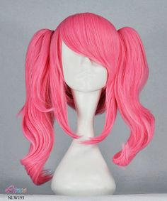 Cute lovely pink anime cosplay wig double ponytail wig dark pink lolita wig NO.NLW193 on Etsy, $23.99