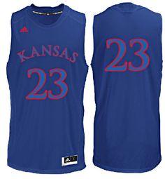 Kansas Jayhawks  23 Royal College Basketball Jersey by Adidas Basketball  Jersey 4b63a1134