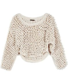Society For Rational Dress Ivory Hand Knit Bauble Sweater
