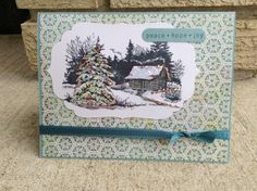 - serene peace by Adelle - Cards and Paper Crafts at Splitcoaststampers Iphone Tricks, Blender Pen, Copics, Cool Things To Make, My Images, Serenity, Stamping, Card Ideas, Christmas Cards