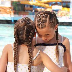"""1,727 Likes, 19 Comments - Little Girl Hairstyles (@braidsforlittlegirls) on Instagram: """"Love this pretty style! So different Credit @2littlegirls_hairstyles ❤️ #braidsforlittlegirls"""""""