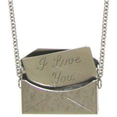 "1/2 X 3/4"" Opening Envelope Necklace Locket, I Love You Insert, 17"" Chain, USA!, in Pewter with Antique Finish GirlPROPS,http://www.amazon.com/dp/B00AHLIADQ/ref=cm_sw_r_pi_dp_YESytb0VJWRV60WF"