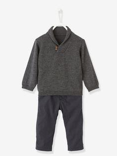 Ces 2 pièces habillent bébé pour l'hiver sans aucune fausse note. C'est simple et tendance ! Collection Automne-Hiver 2016 - www.vertbaudet.fr