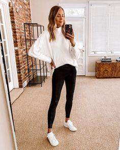 Fashion Jackson Nordstrom Anniversary Sale Free People White Tunic Sweater Black Spanx adidas White Sneakers