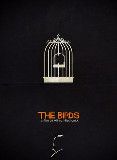 The Birds - Alfred Hitchcock Minimalist Poster by Federico Mauro, via Flickr