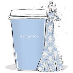 Designer coffee to-go by Megan Hess