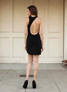 Kyla Open Back Cut Out Dress - Black,  Dress, cut out  backless  sustainable  organic  eco-friendly, Eco Friendly