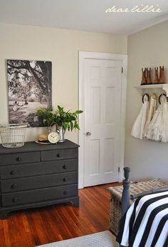 The Other Side of Lillie and Lola's Old Fashioned New England Bedroom (and a New Canvas)  by Dear Lillie