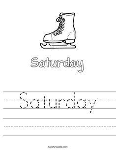 Thursday Worksheet - Twisty Noodle | Worksheets, Alphabet ...