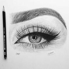 New Art Sketches Pencil Art Drawings, Art Drawings Sketches, Realistic Drawings, Love Drawings, Beautiful Drawings, Beautiful Pictures, Eye Drawing Tutorials, Eye Sketch, Eye Art