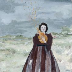 the fires in her heart kept her warm by amanda blake art, via Flickr