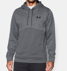 Men's UA Storm Armour® Fleece Twist Hoodie - XL in the color graphite