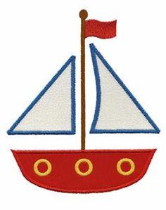- Sailboat embroidery design