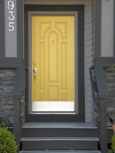 Superb Yellow Front Door   Google Search