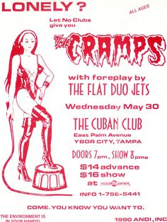 Show Posters - The Cramps...I'm pretty sure I was at this show.