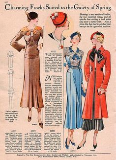 Early 1930s Fashions
