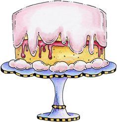 clipart+imagem+decoupage+Party+Cake.jpg 757×786 pixels