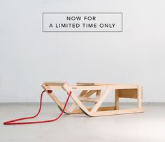 S C H N E E – S T U H L - Schlitten von CUCULA – Refugees Company for Crafts and Design