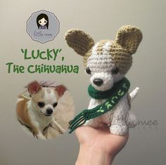 Make It: Lucky the Chihuahua - Free Crochet Pattern #crochet #amigurumi #ravelry #free