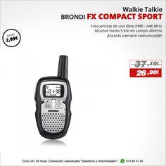 ¡Estarás siempre comunicad@! Walkie Talkie BRONDI FX COMPACT SPORT http://www.electroactiva.com/brondi-walkie-fx-compact-sport-negro.html #Elmejorprecio #Chollo #Tostador #Electronica #PymesUnidas