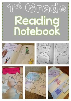 Interactive Reading Notebook for first grade. This interactive notebook includes over 20 activities, Reading Skills, Teaching Reading, Guided Reading, Teaching Ideas, Reading Groups, Reading Strategies, Free Reading, Reading Comprehension, Teaching Resources