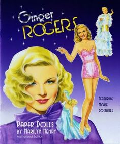 TOYLAND Magazine: Ginger Rogers paper doll by Marilyn Henry
