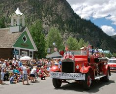 Doubly Dead features a parade like this one in Frisco, CO. It's part of the Founders Day fun! Frisco Colorado, State Of Colorado, Colorado Mountains, Stuff To Do, Things To Do, 4th Of July Parade, Founders Day, Summit County, Alpine Lake