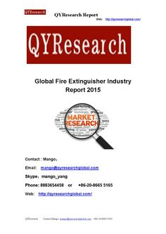 Global fire extinguisher industry report 2015