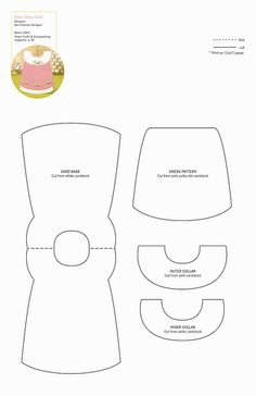 Baby girl dress pattern for card making