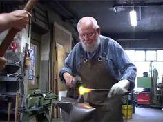Paul Zimmermann forging his last Rose - YouTube