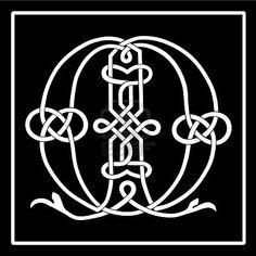 M Celtic knot-work letter