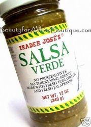 Trader Joe's Salsa Verde - This stuff is my new best friend. Only 10 calories for 2Tbs!