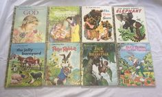 Vintage a Little Golden Book Lot of 8 1970's 1980's (1) 1990's Children's books