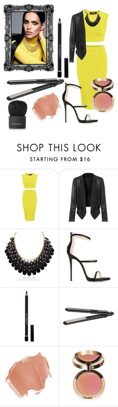 """""""#Bumblebee-Yellow n Black"""" by lovefashionxxxxxx on Polyvore featuring Giuseppe Zanotti, Givenchy, BaByliss, Ciaté, women's clothing, women, female, woman, misses and juniors"""