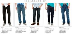 The six basic types of jeans are skinny jeans, classic straight leg jeans, boyfriend jeans, flare jeans, bootcut jeans and trouser jeans. Depending on the basic type, jeans come in a variety of rises from high-waisted to super-low cut, and a variety of washes and color shades.