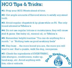Read the top 7 HCG diet tricks and tips to keep moral and weight loss high during phase 2 of the HCG Diet. www.diyhcg.com