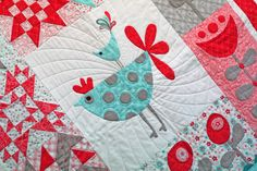 A peek at Flirt by Sandy Gervais for @ModaFabrics #fabric #quilt #pink #aqua
