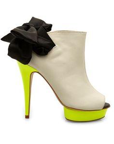 designers remix sign high heel neon platforms. holy. moly.