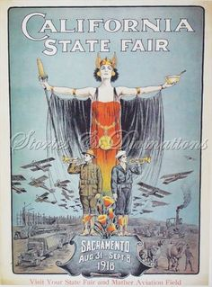 Vintage Poster Art  Small 1918 California by StoriesDivinations, $21.00