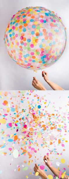 Are you ready for confetti? A confetti toss creates a photo backdrop that is almost as bright and beautiful as the bride herself! Wedding Ideas, Ceremony, Wedding Send Off Ideas