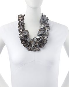 Nest Gray Mother-of-Pearl Cluster Necklace - Available at neimanmarcus.com