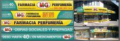 """Carteleria y vinilos realizados para """"Farmacia MG"""""""