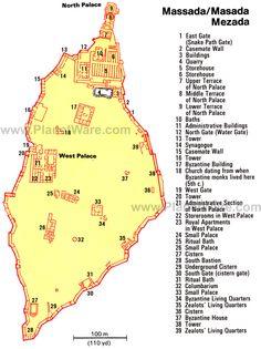 Map of Masada | PlanetWare