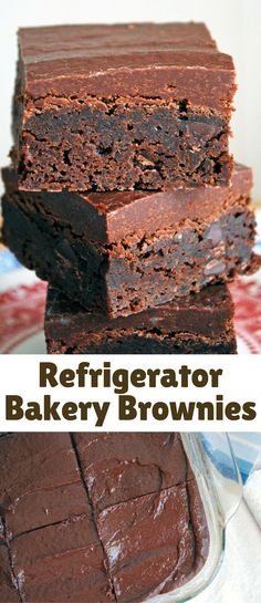 These Refrigerator Bakery Brownies are everything you love about your favorite bakery brownie!