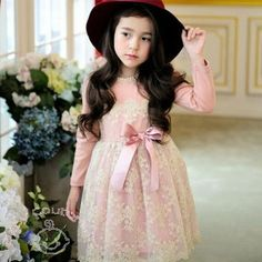 Pearls & Heavy Embroidered Fleece Peach #PartyDress