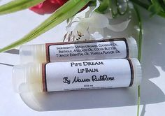 Natural Lip Balm  Pipe Dream Lip Balm  Unique Lip by MamaRubiRose