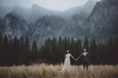 """Yosemite Winter Wedding - """"Sandra and Shawnelopedin Yosemite National Park on a gloriouslyrainy  winter day. It was pure magic."""""""