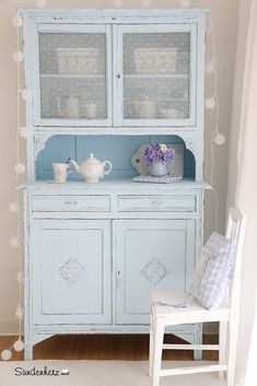 http://www.suendenherz.de/ #blue #shabby #KitchenDresser #cupboard Himmelblauer Schrank | Flickr - Photo Sharing!