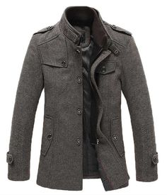 Kenneth Cole New York Mens Ray Single-Breasted Car Coat