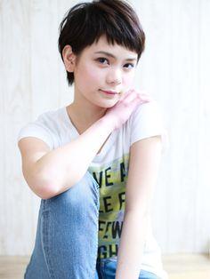 LUXY 【ラグジー】 【Luxy】 egerie//short 黒髪シンプル可愛いベリーショート